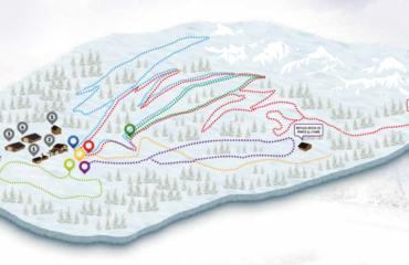 Mapa de pistes d'esquí de fons de Naturlandia