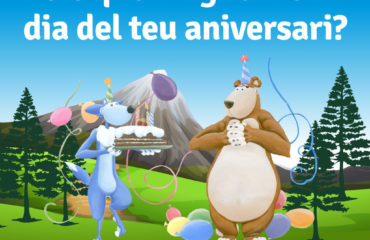 El Lupi i l'Ursa et feliciten