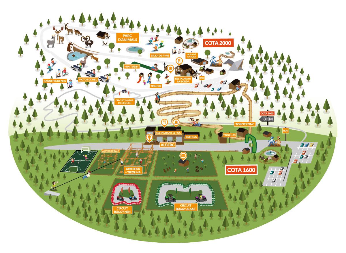 Mapa del parc - Naturlandia