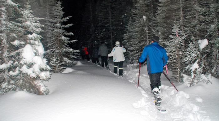 Raquetes de neu nocturnes